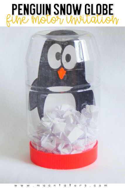 Using recycled materials is such a great way to bring play to life. This adorable snow globe penguin craft is the perfect way to help strengthen you toddler's fine motor skills. Find out how to make this adorable penguin snowglobe with your toddler.