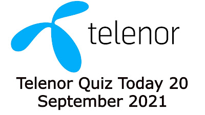 Telenor Quiz Today Questions Answers 20 September 2021