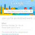 Why Google hold an event the same day as Microsoft's?  Big day October 29