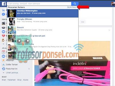 Cara Mudah Menghapus Riwayat Pencarian Facebook Terampuh