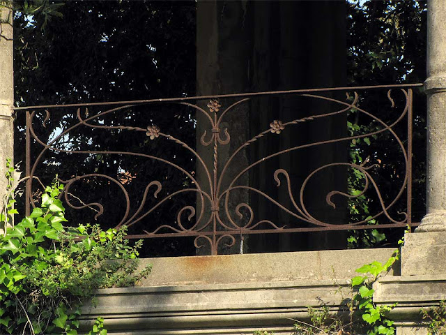 Rusty railing, terrace of the Acque della Salute, Terme del Corallo, Livorno
