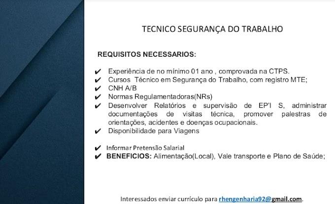 TECNICO SEGURANÇA DO TRABALHO