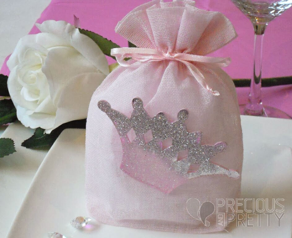 crown theme Christening favors