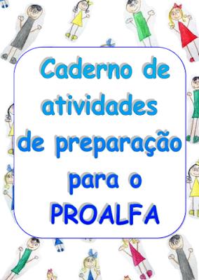 Capa do Caderno de atividades de preparação para o PROALFA