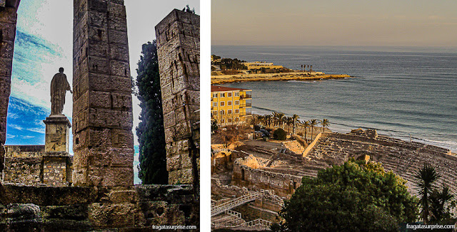 O Fórum Romano e o Anfiteatro de Tarragona