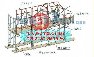 【足場組立て作業の用語集】Glossary of scaffolding assembly work, Từ vựng tiếng Nhật giàn giáo xây dựng (phần 2)