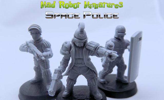 RIOT POLICE METAL 30MM MINIATURE
