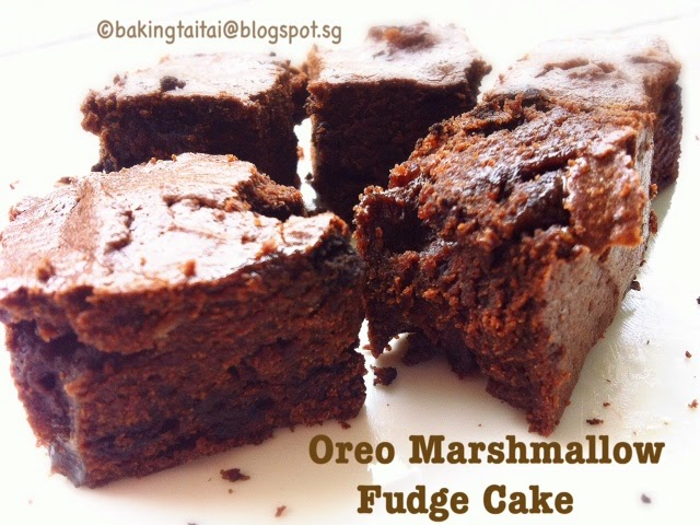 Quick & Easy 30 minutes Oreo Marshmallow Fudge Cake 简易三十分钟 ...