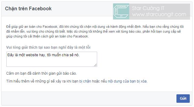 Làm gì khi bị Facebook chặn link blog/website của bạn ?