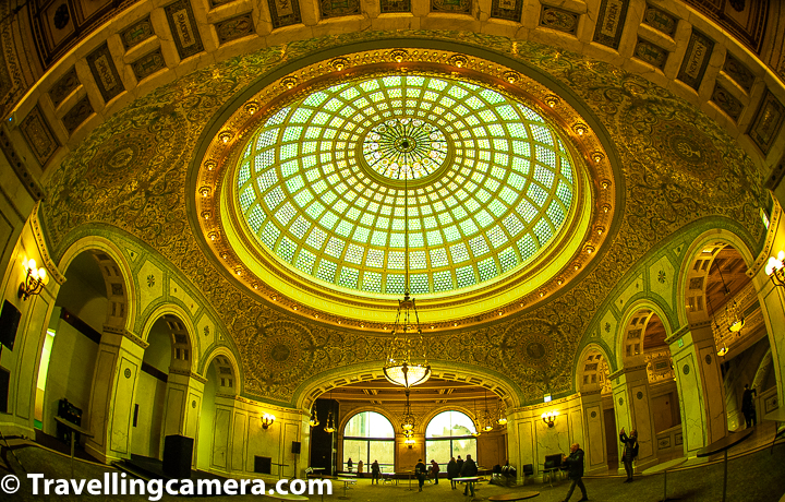 If you walk inside any museum of Chicago, you may find beautiful interiors, design and there is good history behind many of these buildings. Many of these buildings are built by popular architects of the world. Above photograph shows one of the .    Related Blogpost from Chicago - Chicago Cultural Center - One of the best places to explore in Chicago Downtown