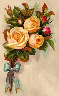yellow rose image label digital design printable crafting download