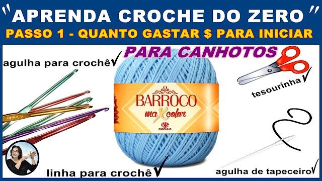 CURSO DE CROCHE GRATIS CANHOTOS INICIANTES PASSO A PASSO VIDEO AULAS EDINIR CROCHE APRENDER CROCHE YOUTUBE PINTEREST INSTAGRAM FACEBOOK