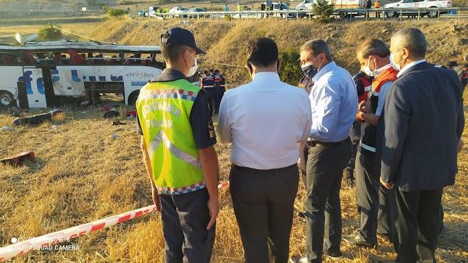 Balıkesirde Trafik kazası 14 ölü 18 Yaralı