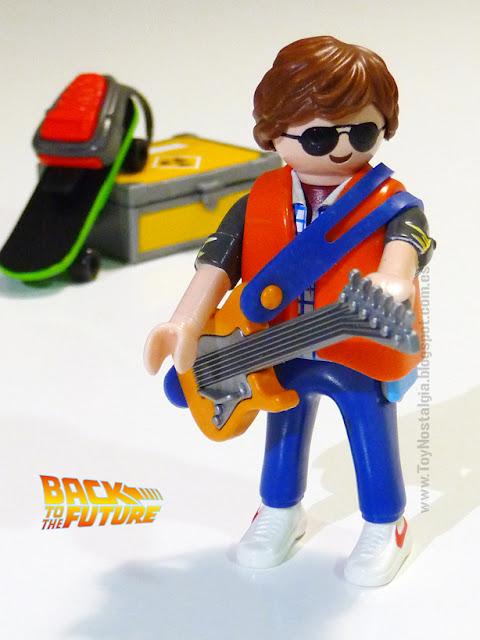 Playmobil Regreso al futuro Marty Mc Fly tocando guitarra eléctrica