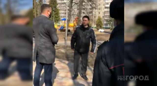 Гуляющим в парке чебоксарцам выписали штрафы в прямом эфире