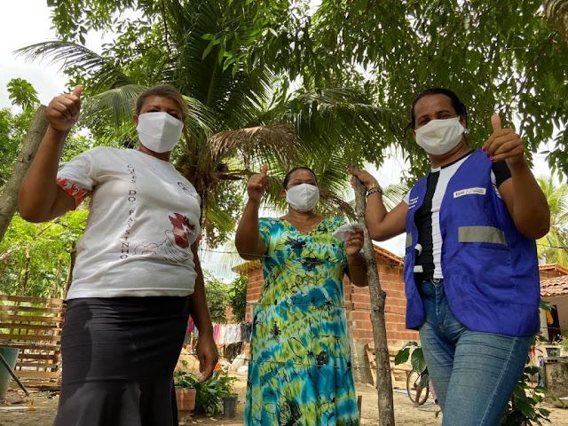 Prefeitura de Goiana segue com distribuição de máscaras em diversas comunidades