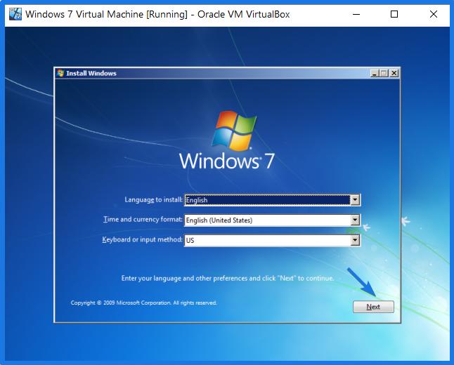 Windows 7 Virtual Machine