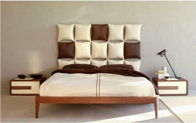 Bed headboards use cushions to make a single bed - How to make a bed headboard ...