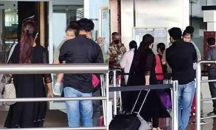 Mahalakshmi leaning on Dileep's shoulder, viral new photos from Kannur Airport, Kannur, News, Cinema, Kavya Madhavan, Dileep, Actress, Actor, Daughter, Kerala