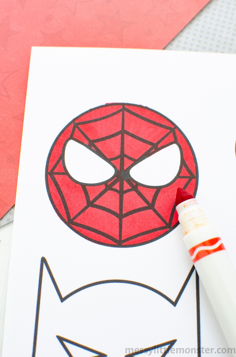 printable superheroes craft