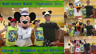 Episode 8: Breakfast at Chef Mickey's – Walt Disney World – September 2016