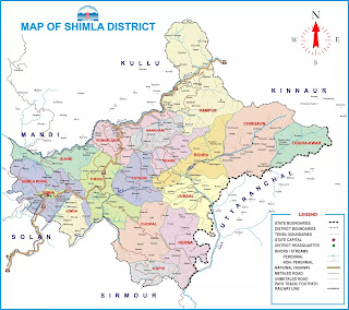 shimla map by himexam.net