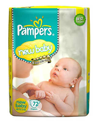 Pampers Active Baby Diapers New Born  72 Count