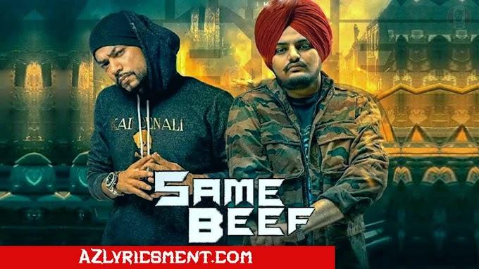 Same Beef Lyrics Feat Sidhu Moosewala, Bohemia