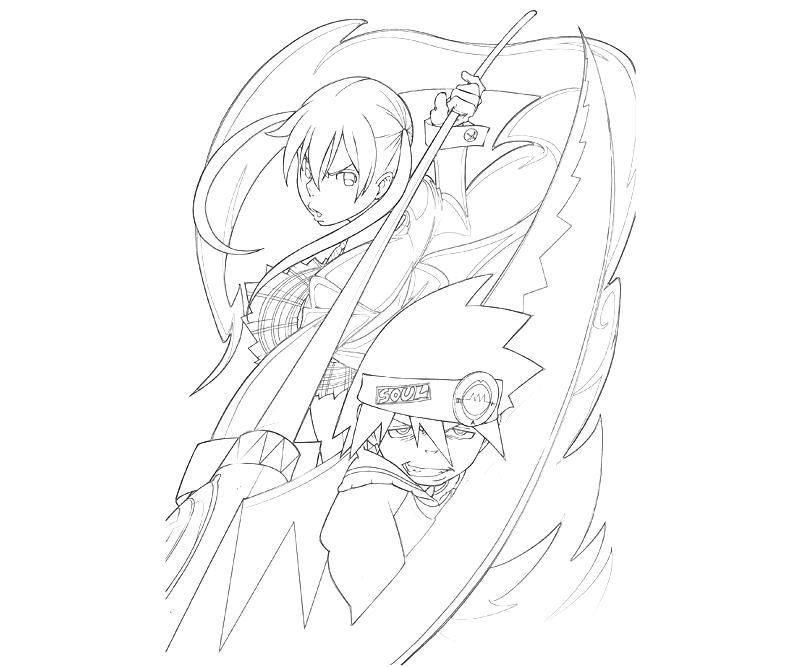 Weapons from Manga Soul Eater coloring page | Free Printable ... | 667x800