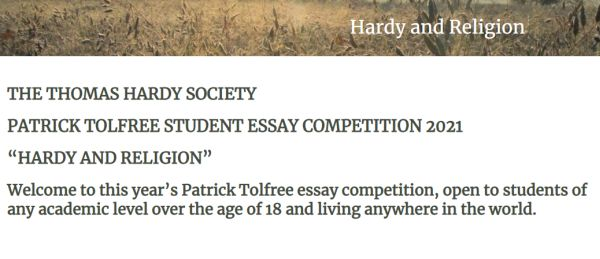 PATRICK TOLFREE STUDENT ESSAY COMPETITION 2021