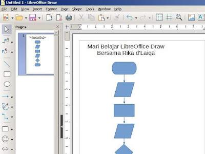 tampilan LibreOffice Draw