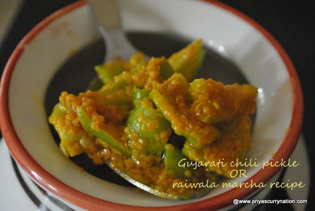 Easy gujarati chili pickle recipehow to make gujarati rai wada marcha forumfinder Choice Image