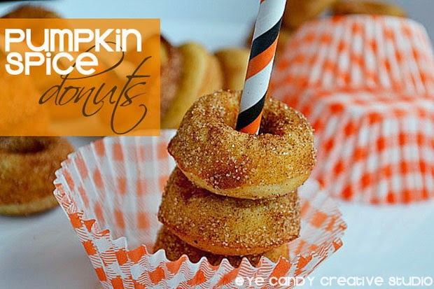 pumpkin spice, doughnuts, fall baking, pumpkin, breakfast idea, mini donuts