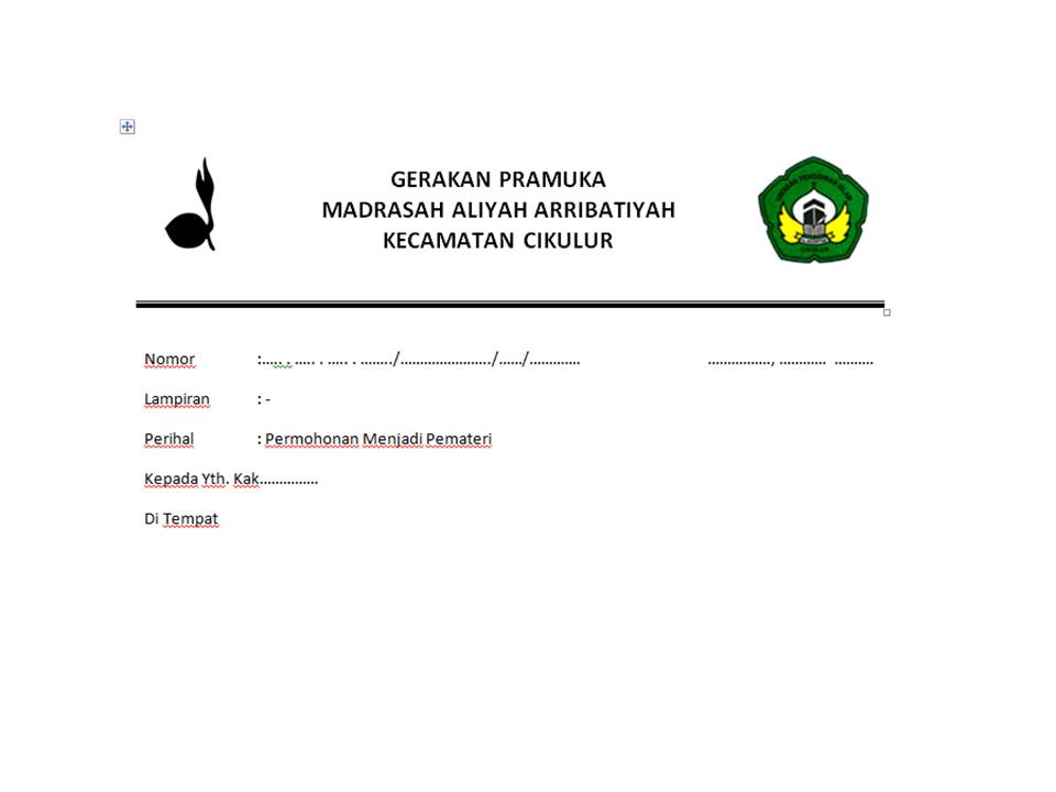 Contoh Surat Permohonan Menjadi Pemateri Dalam Kegiatan Pramuka Husnuls492 Com
