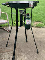 Firedisc Testing in our Backyard Cooking Breakfast