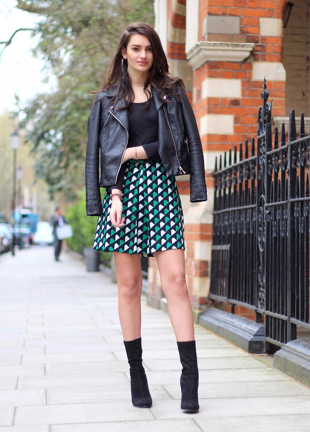 sock boots and skirt spring style peexo