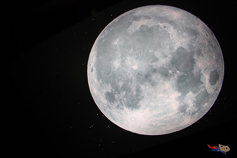 Photo of a moon inside National Planetarium