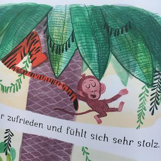 """""""Äffchen"""" von Marta Altés, erschienen im Bohem Verlag,40seitiges Bilderbuch für Kinder ab 3 Jahren, Rezension von Kinderbuchblog Familienbücherei"""