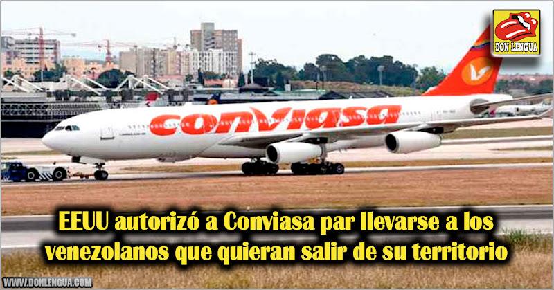 EEUU autorizó a Conviasa par llevarse a los venezolanos que quieran salir de su territorio