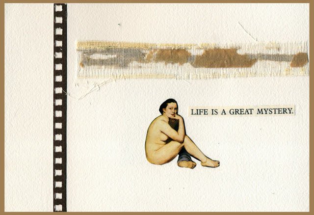 Handmade book - Life is a Great Mystery
