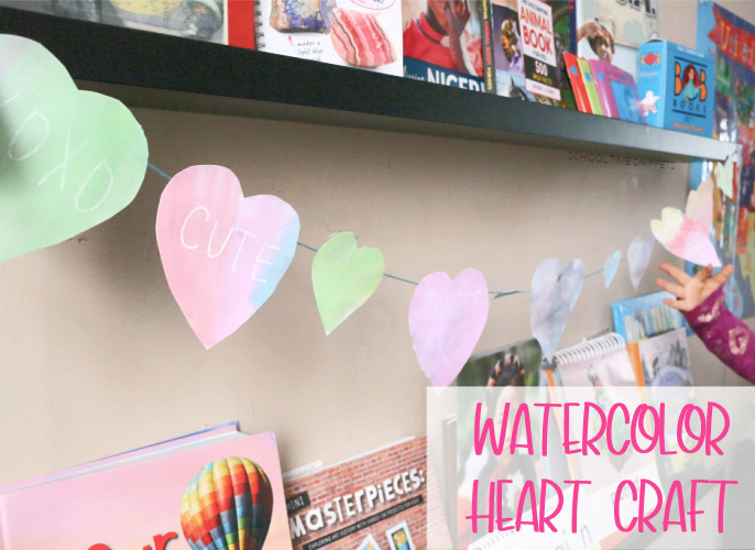 watercolor heart craft