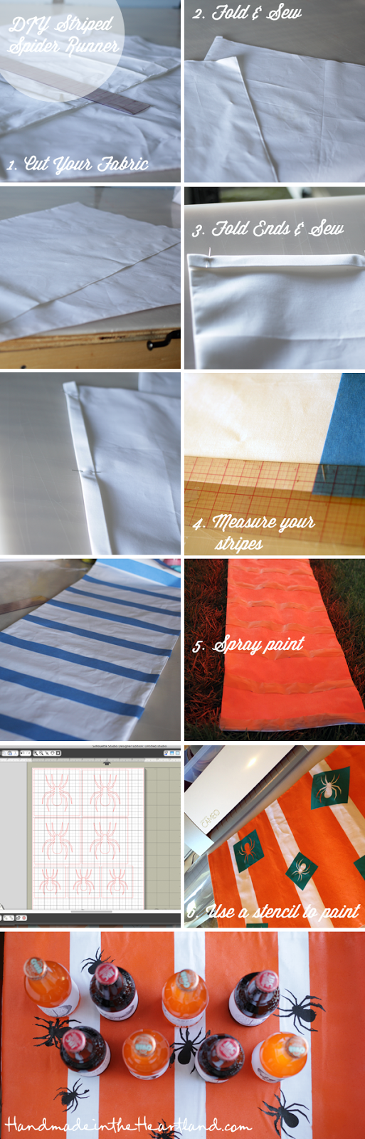 DIY Striped Spider Runner Tutorial