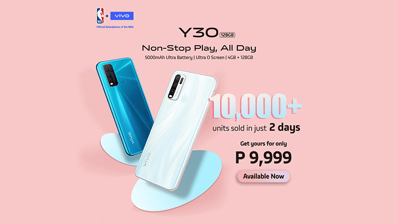 Report: vivo sold over 10,000 units of Y30s in the Philippines in just 2 days