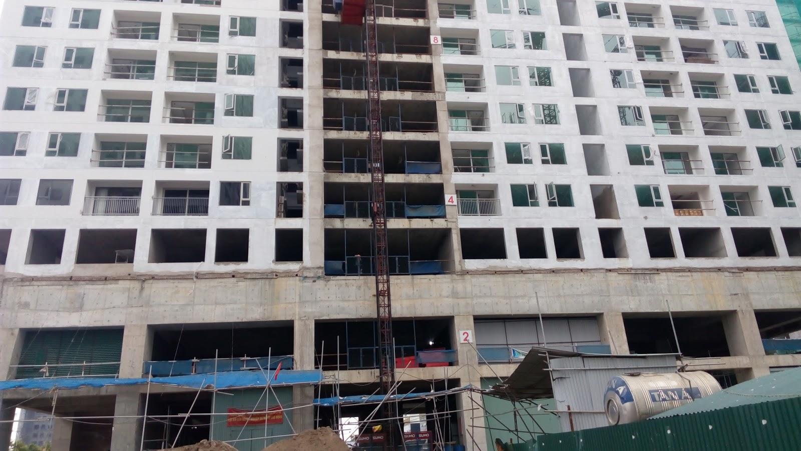 Cập nhật tiến độ xây dựng chung cư Taseco Complex ngày 17/6/2016