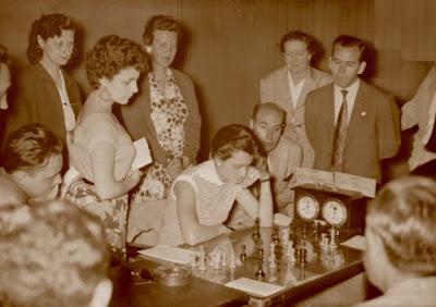 IV Campeonato de España de Ajedrez Femenino Valencia 1955, partida Carrión-Navarro