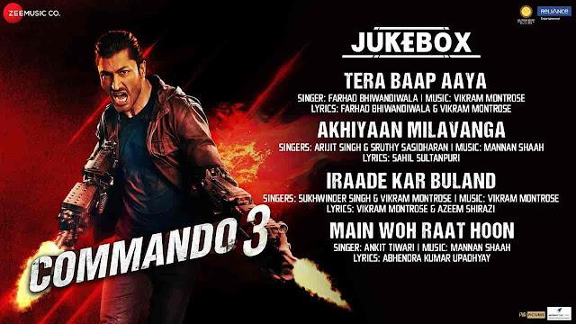 Iraade Kar Buland Lyrics - Commando 3 | Sukhwinder Singh, Vikram Montrose