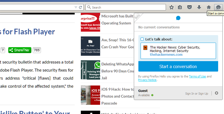 Firefox 41 integrates Free Built-in Instant Messaging and