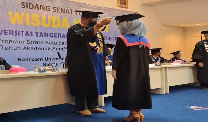 Prosesi Wisuda Universitas Tangerang Raya Terapkan Prokes Secara Ketat
