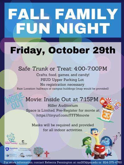 10-29 Fall Family Fun Night