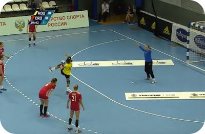 gol Alina Ilie si Romania 11 - Croatia 10